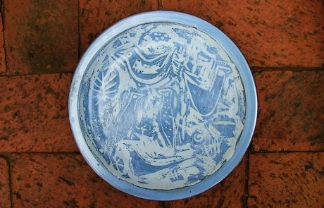 Esias Bosch, An Earthenware Plate (diam 25cm)