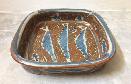 Esias Bosch, A Stoneware Dish, 1960/70s (l: 34cm)