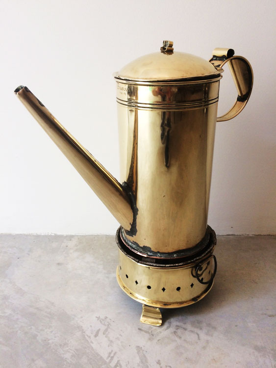 A Cape Brass Koffiepot & Konfoor, F. van As, 1883