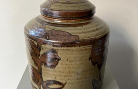 Esias Bosch Stoneware Lidded Jar